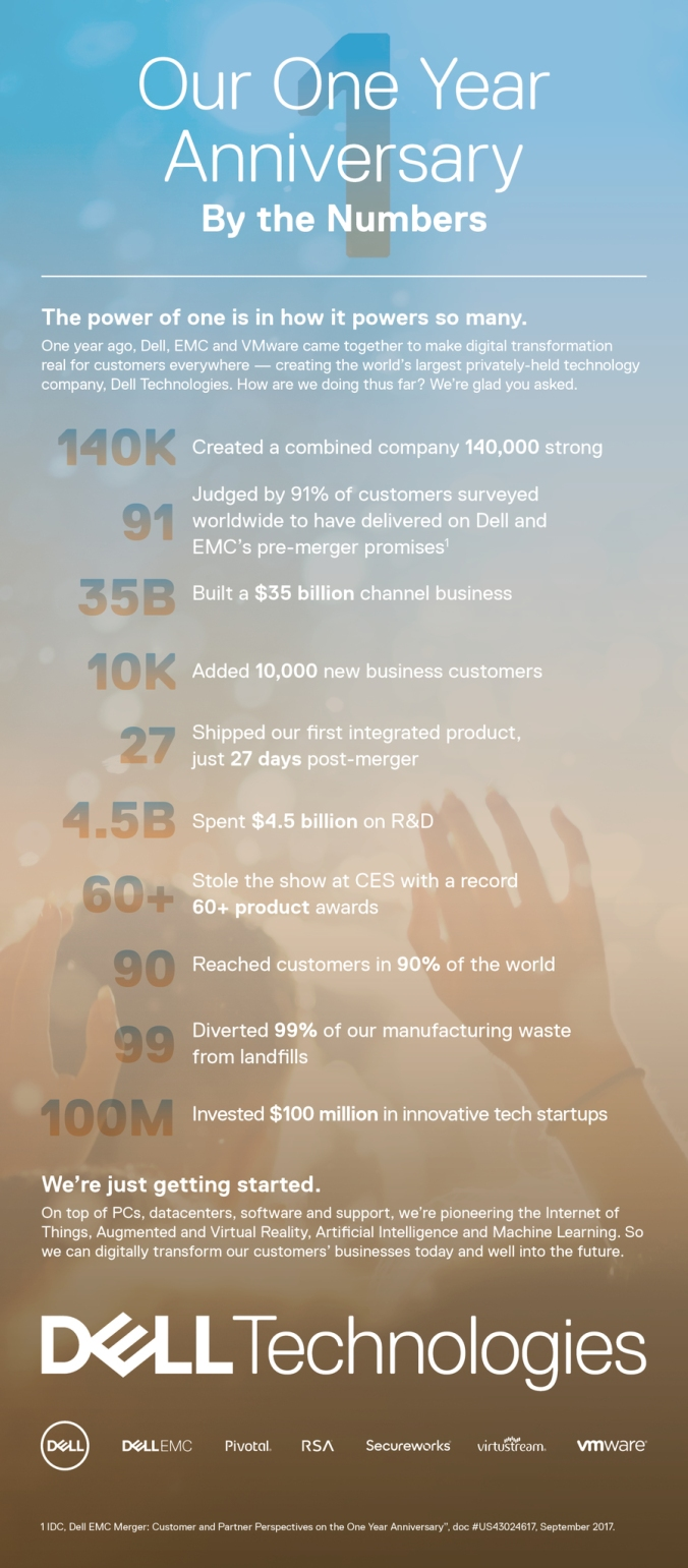 Dell One Year Anniversary Infographic