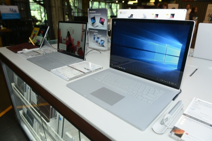 Surface Family displayed at media event